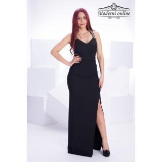 Дълга права рокля Блак Лейди
