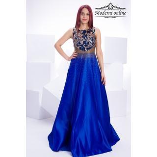 Разкроена дълга рокля Блу Сии 962876