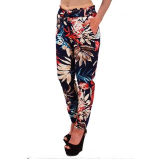 Дамски спорно елегантен панталон шарен