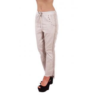 Модерен дамски панталон в бяло